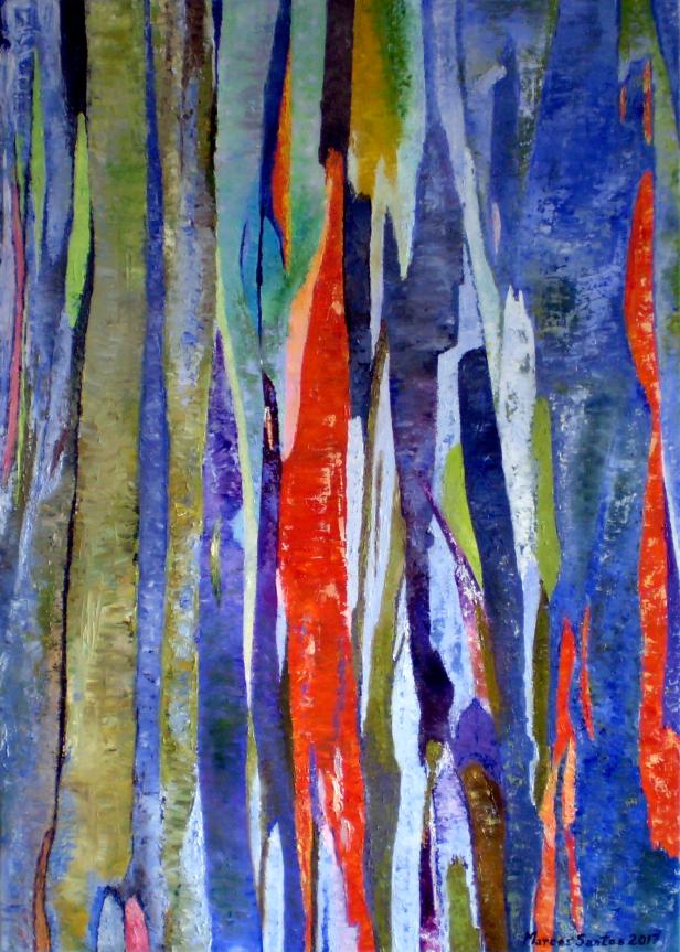 Eucalipto chinês III - óleo sobre tela - 70 x 50 cm